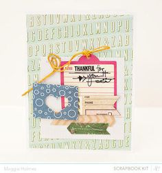 Thankful For You Card by maggie holmes - Studio Calico April Kits