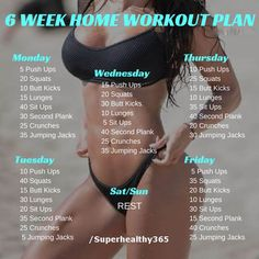 nice 6 Week No-Gym Home Workout Plan - Super Healthy 365