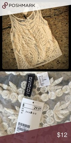 H&M NWT lave top H&M lace top, size 8. New with tags by Divided For H&M. Perfect dressed up or down with jeans. H&M Tops