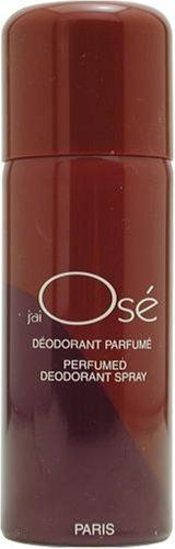 Jai Ose By Guy Laroche For Women, Deodorant Spray, 5-Ounce Bottle by Guy Laroche. $10.87. Packaging for this product may vary from that shown in the image above. Launched by the design house of Guy Laroche in 1977, JAI OSE is a women's fragrance that possesses a blend of a sweet blend of oriental greens.  It is recommended for evening wear.Whenapplyingany fragrance please consider that there are several factors which can affect the natural smell of your skin and, i...