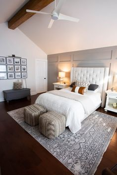 master bedroom retreat, neutral bedroom, gray bedroom, neutral bedroom ideas, neutral bedroom with a Master Bedroom Makeover, Master Bedroom Design, Bedroom Designs, Bedroom Retreat, Home Bedroom, Bedroom Decor, Bedroom Ideas, Bedroom Furniture, Bedroom Rugs