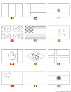 Printable Flag Coloring Page Fresh Country Flags Coloring Pages Flag Coloring Pages, Printable Coloring Pages, Coloring Pages For Kids, Coloring Sheets, Coloring Books, Around The World Theme, Flags Of The World, World Flags Printable, Countries And Flags