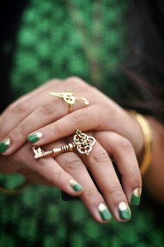 Lindas verdes/doradas
