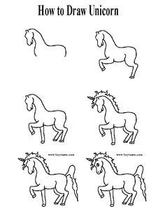 Easy To Draw Unicorn Learn To Draw A Unicorn Step By Step Back