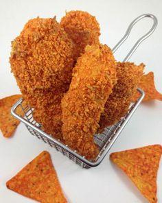 ¡Receta creativa! Chicken strips con empanado de Doritos: http://www.sal.pr/?p=91918