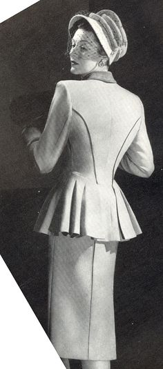 Vintage Chic - 1946 Suit -- CLICK here for your Dream Wedding Dress and Fashion Gown! https://www.etsy.com/shop/Whitesrose?ref=si_shop
