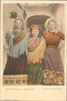 HUNGARY BORSOD MEZOKOVESD MATYO FOLK COSTUME ETHNIC 1900s Folk Costume, Costumes, Hungarian Women, Hungarian Embroidery, Austro Hungarian, Half Dolls, Folk Music, Budapest Hungary, Old Postcards