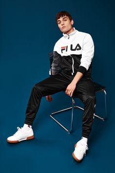 Sport Fashion, Boy Fashion, Mens Fashion, Lit Outfits, Casual Outfits, Thrasher, Soccer Players Hot, Fila Outfit, Hypebeast Outfit