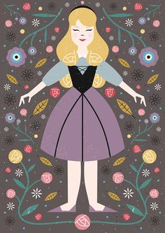 Princess Aurora Disney Illustration/Retro Illustration