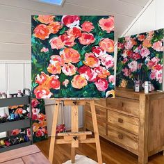 Acrylic Painting For Beginners, Acrylic Painting Lessons, Acrylic Painting Tutorials, Beginner Painting, Acrylic Painting Canvas, Painting Classes, Online Painting, Easy Flower Painting, Painting The Roses Red