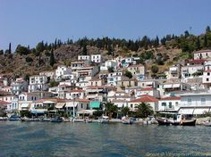 Pictures of The port of Poros Island Saronic, Greece. Poros Greece, Greek Islands, Posters, River, World, Places, Holiday, Pictures, Outdoor