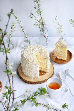 Three-Layer White Chocolate & Coconut Cake