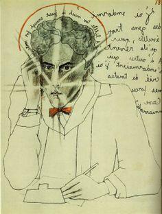 Jean Cocteau, dessins originaux(1924) pour Le mystère de Jean l'oiseleur 1925. Scan personnel du catalogue Exposition Cocteau, Centre Pompidou 2004