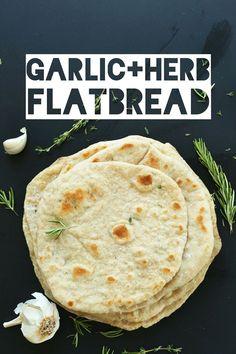Garlic Herb Flatbread | Minimalist Baker Recipes