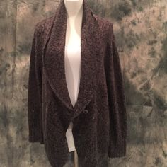 Hinge Oversized Cozy Sweater Long one button front cardigan. Shawl collar. Front pockets. 100% acrylic Hinge Sweaters Cardigans