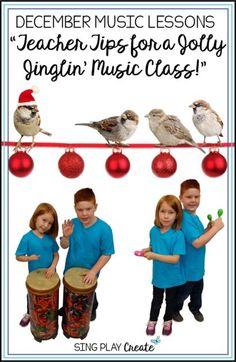 Teacher Tips for a Jolly-Jinglin' Music Class - Sing Play Create Kindergarten Music, Preschool Music, Teaching Music, Teaching Kids, Music Education Games, Music Activities, Christmas Activities, Piano Lessons, Music Lessons