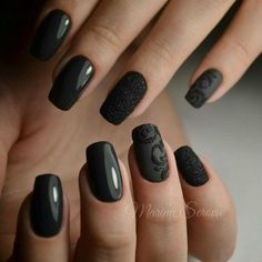 Love black nails when it has some original idea