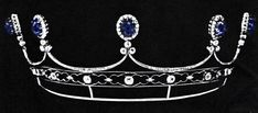 Yusupov Sapphire tiara. Auctioned in 1971 in Geneva, from the possession of the Jussupows. Princess Irina nee Romanov died 1970.