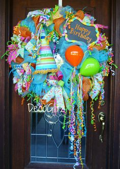 HAPPY BIRTHDAY WREATH by decoglitz on Etsy