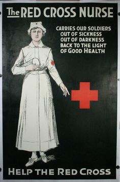 Red Cross WW1 poster
