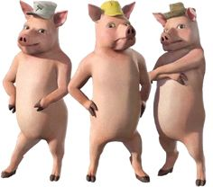 The Three Little Pigs are supporting characters in the Shrek film series. They are three. Dreamworks Movies, Disney Movies, Donkey And Dragon, Shrek Character, Three Blind Mice, Free Poster Printables, Three Little Pigs, Fairy Godmother, Magical Creatures