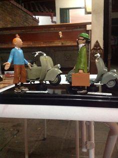 Tintin and vespa