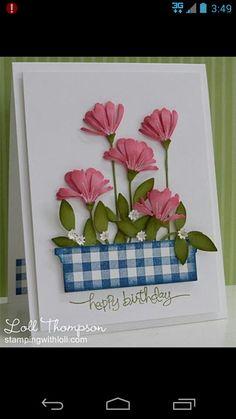 """""""Happy Birthday"""" Card by Loll Thompson."""
