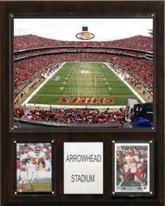 """Kansas City Chiefs Plaque - Arrowhead Stadium 12""""""""x15"""