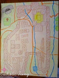 map of jerusalem for building a model