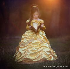 Belle Princess Gown Costume in Yellow от EllaDynae на Etsy