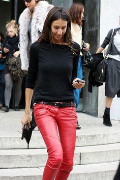 Black & Red, Geraldine Saglio, Vogue Paris