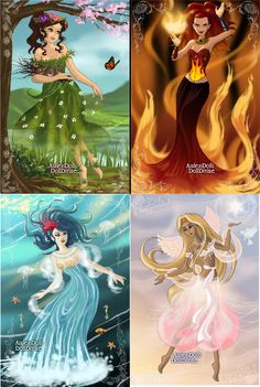 The Four Elements ~ Air, Water, Earth, and Fire