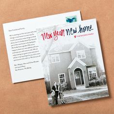 Make a fresh start when you move in the new year. Holiday Cards, Christmas Cards, Hanukkah Cards, Moving Announcements, New Year Card, Fresh Start, First Love, Finding Yourself, Greeting Cards