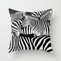 Zebra Black And White Throw Pillow