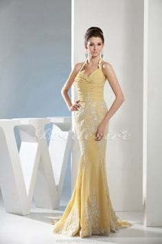 Trumpet/Mermaid Halter Floor-length Sleeveless Chiffon Dress - $128.99