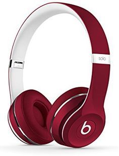 Buy Beats by Dre Solo 2 On-Ear Headphones Luxe Edition - Red at Argos. Thousands of products for same day delivery or fast store collection. Best In Ear Headphones, Music Headphones, Bluetooth Headphones, Sports Headphones, Beats By Dre, Tech Accessories, Electronics Accessories, Iphone, Mobile Phones
