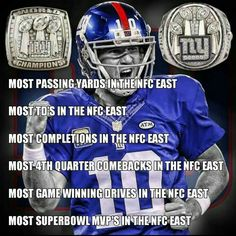How can anyone say Eli isn't one of the ELI-tes? New York Giants Football, New England Patriots Football, My Giants, Steelers Football, Football Memes, Sports Memes, Ny Yankees, Football Season, Pittsburgh Steelers