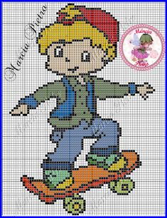 ENCANTOS EM PONTO CRUZ: Para Meninos Small Cross Stitch, Cross Stitch Baby, Cross Stitch Charts, Cross Stitch Patterns, Plastic Canvas Coasters, Plastic Canvas Patterns, Knitting For Kids, Baby Knitting, Cross Stitching