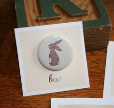 Boo Button by belleandboo on Etsy, £2.25