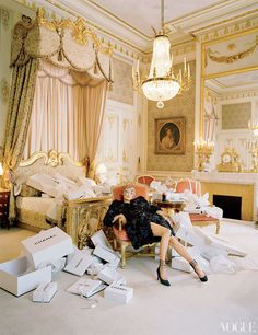 kate moss @ the ritz paris (chanel suite) ||  vogue