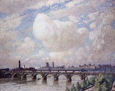 Waterloo Bridge in the Sun Emile Claus - 1916