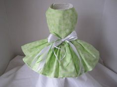 Dog Dress  XS Green with Butterflies  By by NinasCoutureCloset, $35.00
