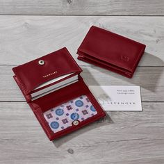 Our business card wallet can hold more than 50 business cards you the gemstone card wallet is a limited edition design only from levenger reheart Images