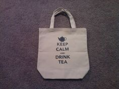 Keep Calm and Drink Tea Tote Bag by TheGoodLifebyKatie on Etsy, $10.00