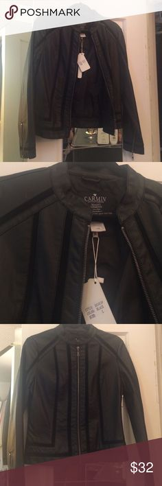 Hot Miami Styles Faux Leather Jacket Hot Miami styles faux leather black jacket. Size large. Approx 22 in L, 18 in W across bust, sleeve approx 23.5 from shoulder. No pockets. Zippers on bottom of sleeves. New with tags hot miami styles  Jackets & Coats