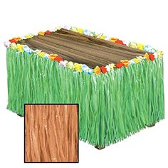 Pack of 6 Tropical Natural Colored Artificial Grass Hawaiian Themed Party Table Skirts 9 ** You can find out more details at the link of the image.