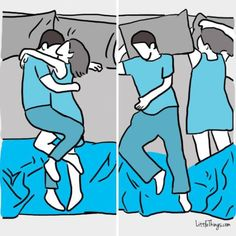 What these sleeping positions say about your relationship Credit: www.littlethings.com http://www.littlethings.com/couple-partner-sleep-position-style-personality-relationship/
