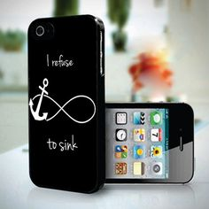 Refuse to Sink Anchor Infinity design for iPhone 5 case