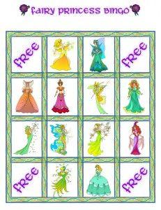 Fairy Princess Bingo Card 5 Plus Princess Bingo, Princess Party Games, Princess Party Invitations, Princess Tea Party, Princess Theme, Kids Party Games, Disney Princess, 6th Birthday Parties, Birthday Ideas