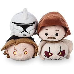 "Disney Star Wars Episode III : Revenge of The Sith: Anakin, General Grevious, Obi-Wan, Clone Trooper - TSUM TSUM Mini 3.5"" Plush 4x Bundle >>> Check out this great product. (This is an affiliate link) #PlushFigures"
